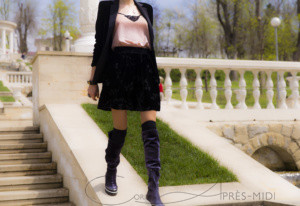 Spring velvet look with Corina ApresMidi