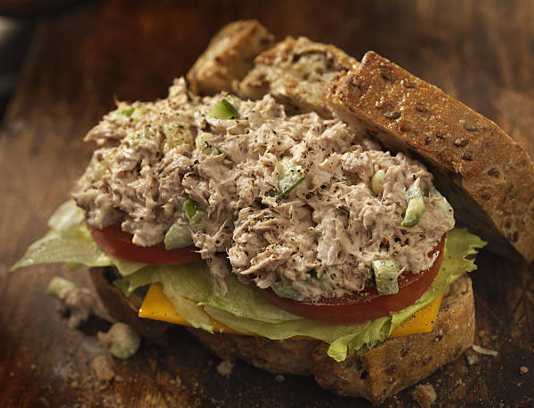Homemade mayonnaise and tuna salad